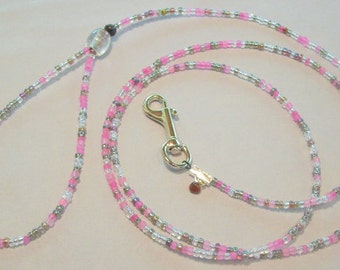 Pink Multi Colored Dog Leash