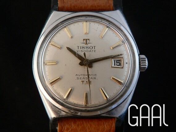 Rare vintage Tissot Visodate Seastar automatic mens watch