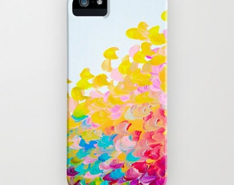 CREATION IN COLOR iPhone 4 5 5c Se 6 6s 7 Plus Case Samsung Galaxy Cover Colorful Ocean Waves Rainbow Splash Summer Art Abstract Painting