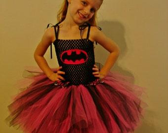 Pink Batgirl Inspired Tutu Dress Costume