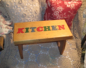 Vintage Small Rustic Step Stool Kitchen Sweet / Not Included in Coupon Sale