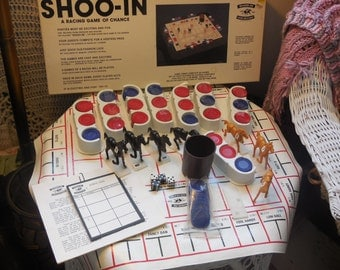 Shoo-In  A Racing Game 1987, Rare Game, Horse Game, Vintage Board Game, Board Game, Toys, Vintage Toys, Game, :)S