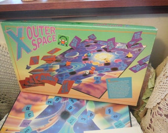 1986  X Outer Space Game  :)Math Game, Math board Game,Math,Vintage Board Game,Board Game,Toys,Vintage Toys,   Gift ideas