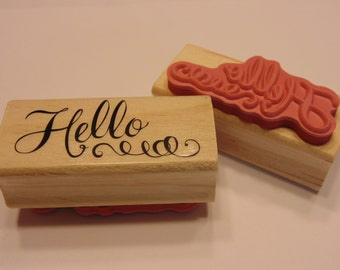Hello, rubber stamp, 50 mm (SB2)