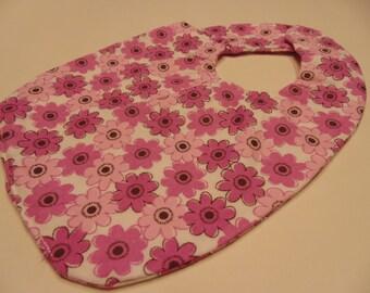 pink flowers baby bib (BR)