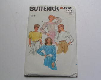 Vintage Butterick Pattern 4292 Miss Blouse