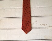 Skinny Tie- Orange King Crown Design