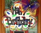 Birthday Chalkboard Door Hanger