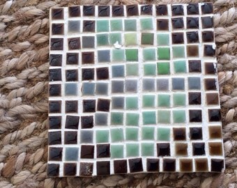 Vintage Mosaic Trivet- Midcentury Mosaic Trivet