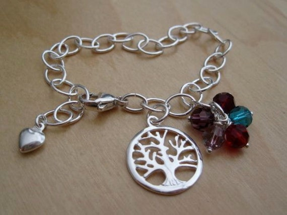 personalized family tree bracelet tree of charm