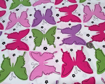 Ellen Medlock fabric FLIGHT PATTERN Butterflies