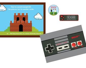 Nintendo Wedding Invitation Set 4