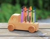 Handmade Wooden Doodle Crayon Truck