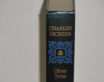 ON SALE Charles Dickens - Oliver Twist - Nelson Doubleday Book Club Edition 1970's - Victorian Literature - Vintage Hardcover Fiction Book