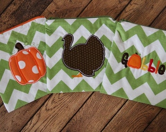 Personalized or Plain Pumpkin Applique on Reusable Sandwich and Snack Bags with Zipper Closure