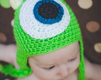 little monster inspired hat, photo prop. all sizes