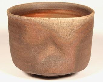 Bizen / Tamba - style Tsu-tsu Chawan (Cylinder Tea Bowl) - 5 Day Anagama 2012