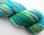 Sun and Sea - Assockilate Base SW Merino/Nylon Fingering Weight - Variegated - 463 yds