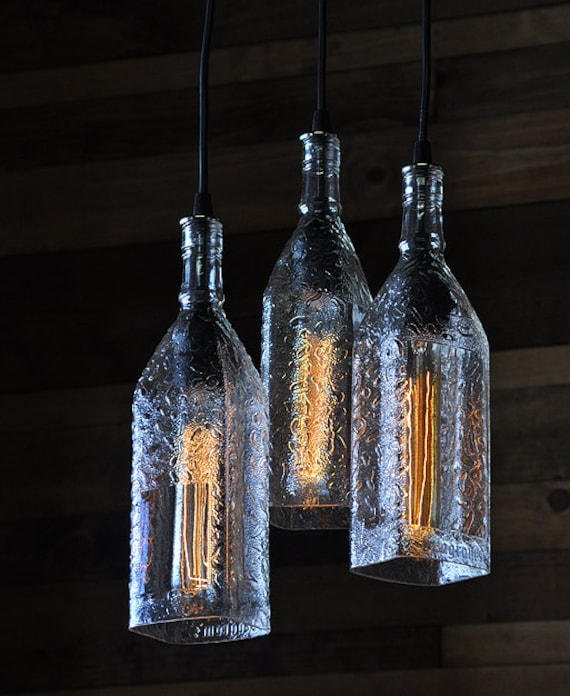 Seagrams Gin Bottle Chandelier