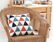 """Modern Triangles Oxford Cotton Fabric Geometric - Northern Europe Style - By the Yard (44 x 36"""") 54327"""