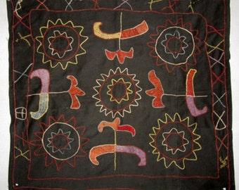 Wild Tulips Vintage Uzbek Hand Embroidered Oyna Halta
