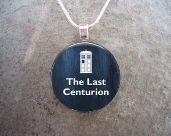Doctor Who Necklace - The Last Centurion - Glass Pendant Jewelry