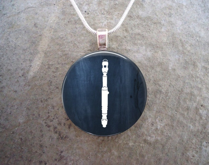 Doctor Who Jewelry - Glass Pendant Necklace - David Tennant's Sonic Screwdriver - RETIRING 2017