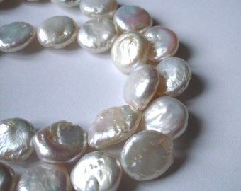 Very pretty 12mm coin pearls