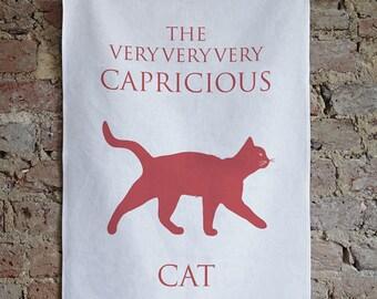 Cat Tea Towel / Cat Dish Cloth / Cat Gift / Cat Present
