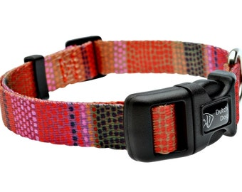 Field of Blooms Fashion Dog Collar - Made From Recycled Webbing