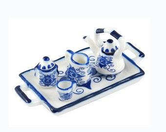Miniature Decorative Porcelain Tea Set 7 Pieces -3916