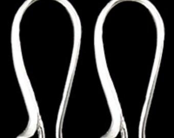 6pc silver finish brass earring hooks-5180E
