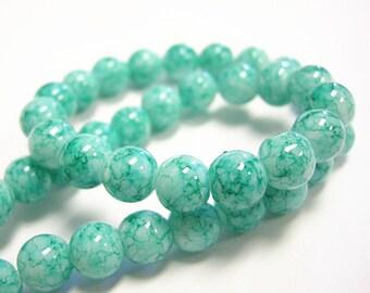 33 inch strand 8mm Baking Varnish Glass Beads(over 100 beads)-9186