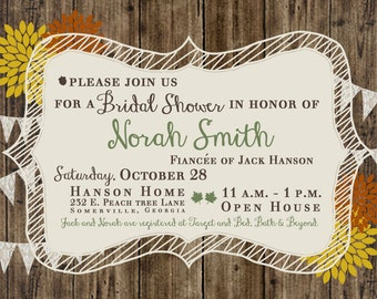 Fall Bridal Shower Invite