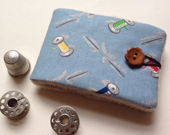 Needlebook Needlecase in Retro Sewing Theme Fabric