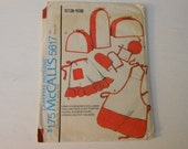 McCall's Craft Pattern 5617 Home Accessories including two and four slice Toaster Covers, Blender Cover, Aprons and Pot Holders