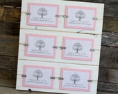 Collage Picture Frame - Distressed Wood - Holds 6 - 4x6 Photos - White and Light Pink