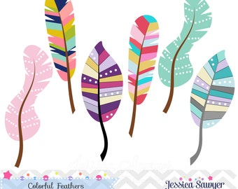INSTANT DOWNLOAD, feather clipart for commercial use, personal use, wall prints, greeting cards