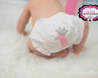Crown Diaper Cover, Princess Diaper Cover, Birthday Diaper Cover, Birthday Bloomer, Princess Birthday, Crown Birthday