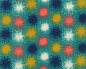 SALE - AUGUST by Sarah Watts for Cotton + Steel - Dandelion (Teal, 2005-001) - 1 Yard - Quilting Weight Cotton Fabric