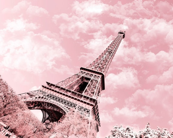 Paris Eiffel Tower Photography Pink Paris in Pink Eiffel Tower