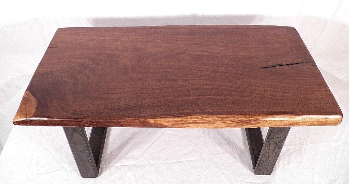 Walnut Slab Coffee Table Rustic Reclaimed Live Edge Hand Made