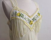 Hello Sunshine / Vintage Slip in Pale Yellow / Medium