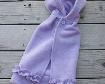 ON SALE - RTS, size 12m Princess Cape in lavender with ruffle