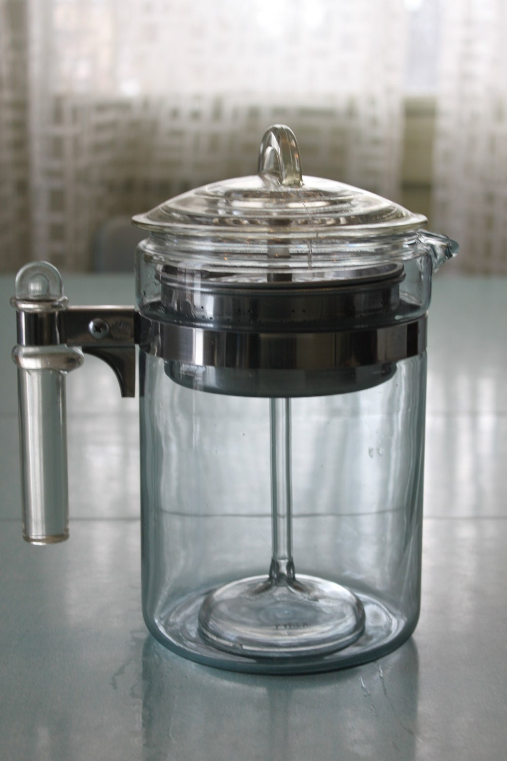 Old Time Coffee Maker : 6-9 Cup Vintage Pyrex Glass Flameware Coffee Pot Percolator