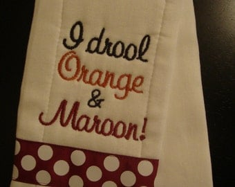 "Hokie ""Drool"" Burp Cloth"