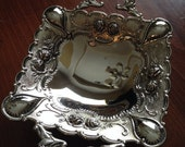 Vintage Silver Plated Nut Tray