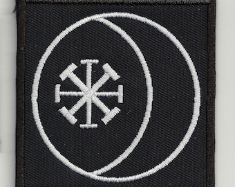 Vesica piscis  - embroidered patch, BUY3 GET4, 3,2 X 3,2  INCH