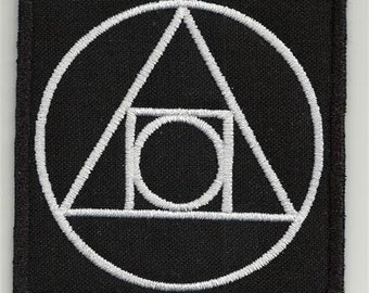 Alchemical symbol, esoteric  - embroidered patch, BUY3 GET4, 3,2 X 3,2 INCH
