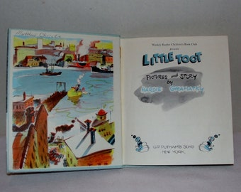 "Vintage Book ""Little Toot"" by Hardie Gramatky Childrens Hardbound Story Book"